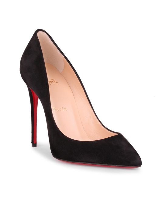 louboutin pigalle 100 black suede