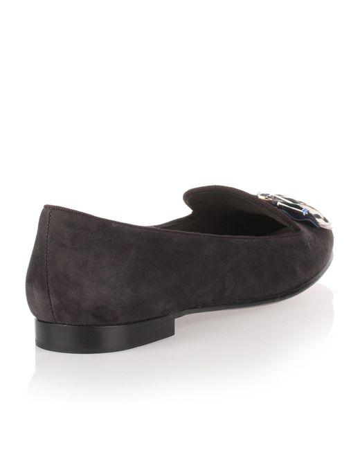 Slipper grey suede loafer Dior oyTqhSNBM