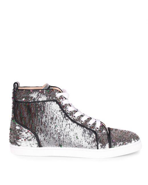 2ab401c99b9 ... promo code for christian louboutin metallic bip bip silver sequin sneaker  lyst a25bb 29644