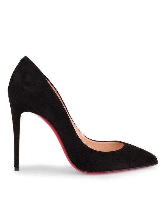 finest selection 54dd9 d2de1 Christian Louboutin Pigalle Follies 100 Black Suede Pump in ...