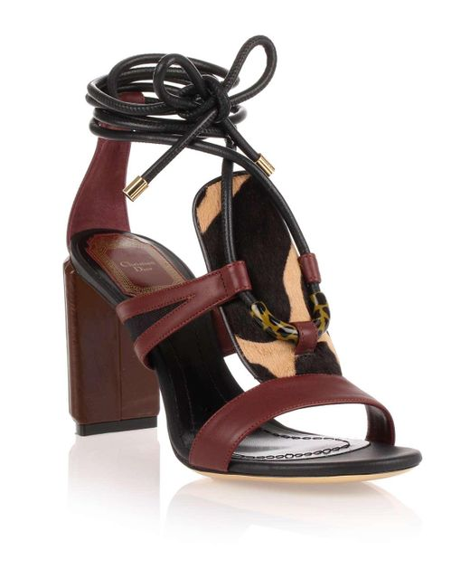 Dior - Brown Tribe 80 Leather Sandal - Lyst
