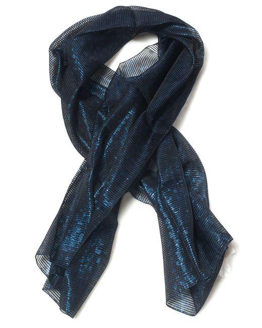 Armani - Blue Lurex Stole - Lyst
