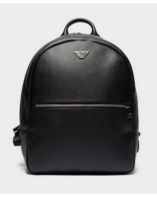 Emporio Armani - Black Metallic Backpack for Men - Lyst ... 54cd71599bcf3