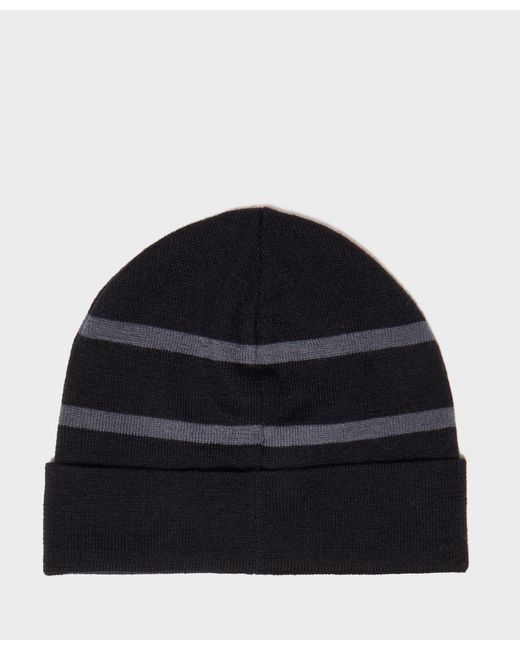 629c7ba8b57 ... Emporio Armani - Blue Turn Up Ribbed Beanie for Men - Lyst ...