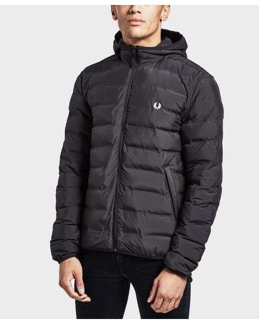 Fred Perry - Black Padded Jacket for Men - Lyst