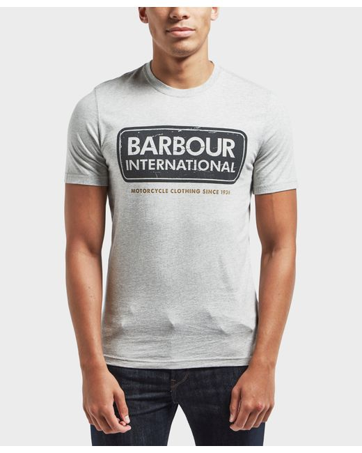 Barbour | Gray International Logo Short Sleeve T-shirt for Men | Lyst