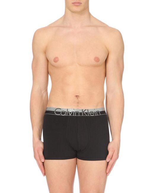 CALVIN KLEIN 205W39NYC - Black Magnetic Stretch-cotton Trunks for Men - Lyst