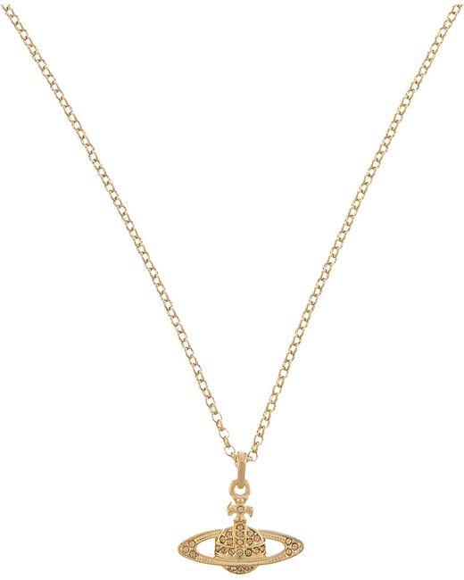 Vivienne Westwood   Metallic Mini Bas Relief Diamante Orb Necklace   Lyst