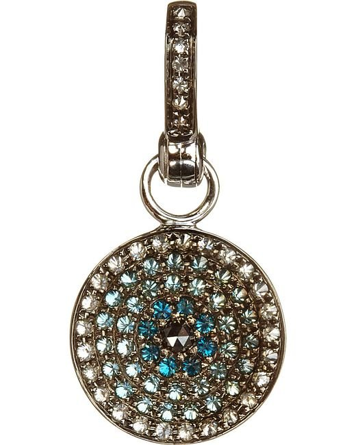 Annoushka | Metallic Mythology Serenity Evil Eye 18ct White-gold And Diamonds Amulet Pendant | Lyst