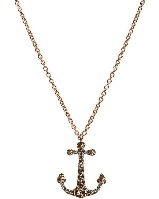 Annoushka | Love Diamonds 18ct Yellow-gold Anchor Pendant Necklace | Lyst