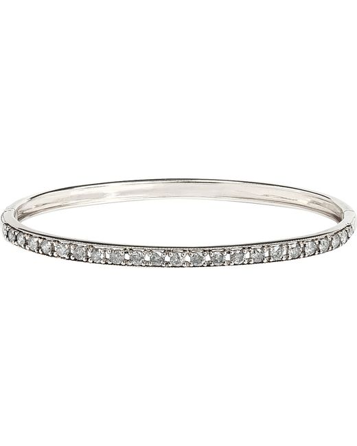 Annoushka | Dusty Diamonds 18ct White-gold And Diamond Line Bangle | Lyst