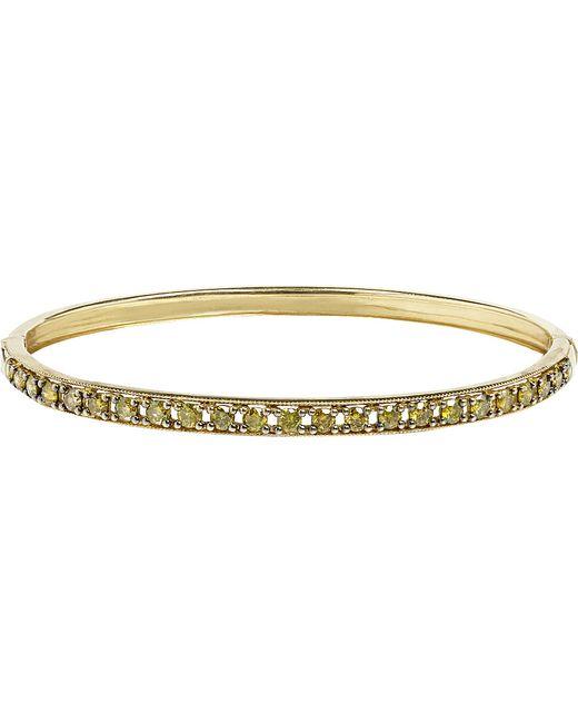 Annoushka | Dusty Diamonds 18ct Yellow-gold And Diamond Line Bangle | Lyst