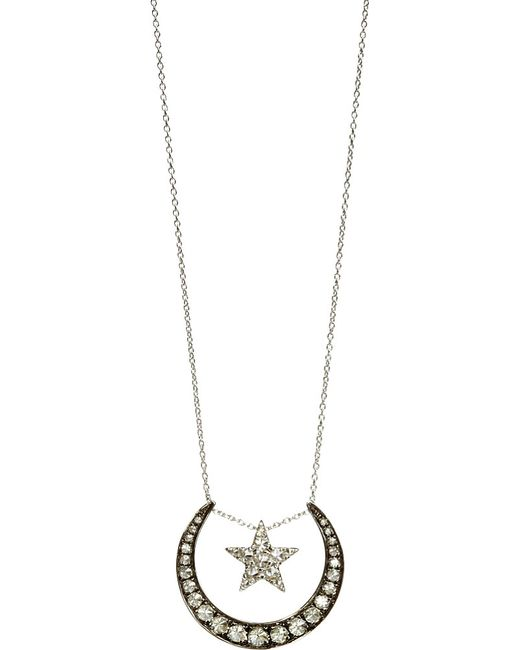 Annoushka | Love Diamonds 18ct White-gold And Diamond Lunar Pendant Necklace | Lyst