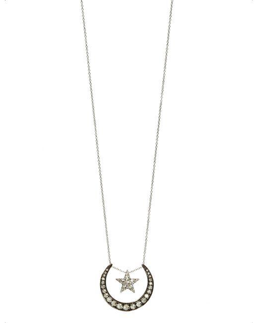 Annoushka | Love Diamonds 18ct White-gold And Diamond Lunar Pendant Necklace | Lyst