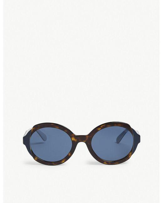 Prada - Blue 0pr 17us Round Sunglasses - Lyst