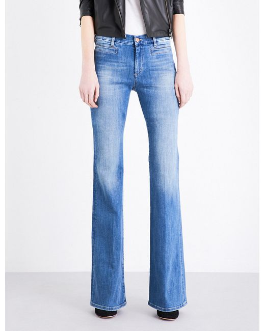 MiH Jeans | Blue Marrakesh Flared High-rise Jeans | Lyst