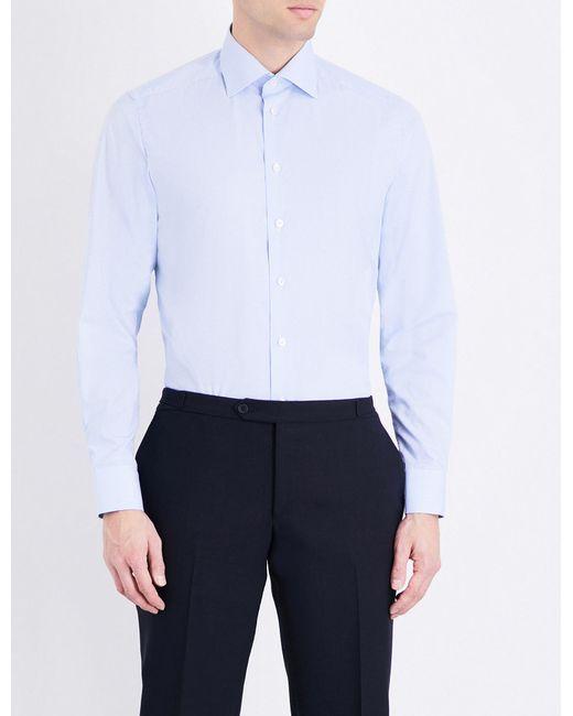 Eton of Sweden | Blue Contemporary-fit Cotton Shirt for Men | Lyst