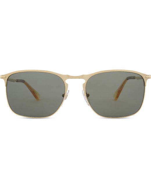 Persol - Metallic Po7359s Polarised Rectangle-frame Sunglasses - Lyst