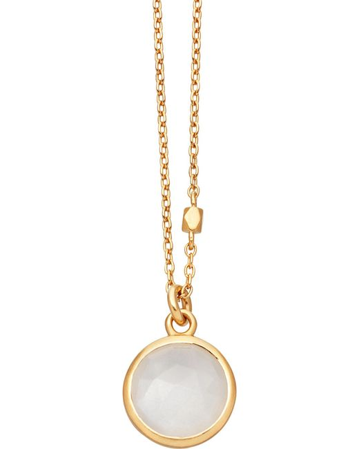 Astley Clarke | Metallic Stilla 18ct Gold-plated Moonstone Pendant Necklace | Lyst