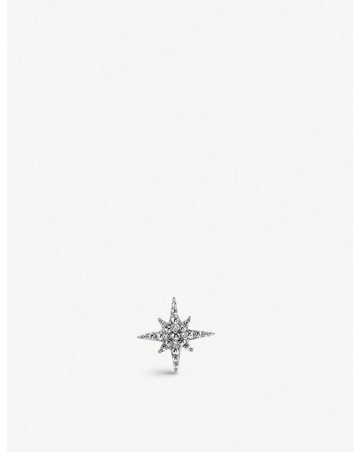 The Alkemistry - Sydney Evan Starburst 14ct White-gold And Diamond Earring - Lyst
