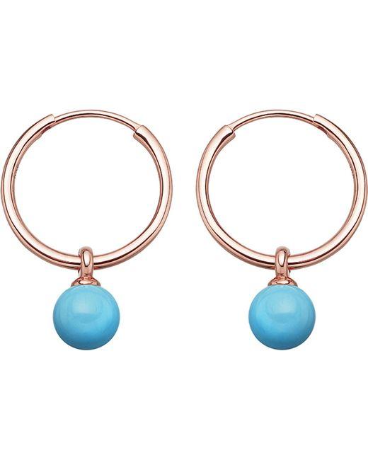Astley Clarke - Metallic Vera Rose-gold Vermeil & Turquoise Drop Hoop Earrings - Lyst