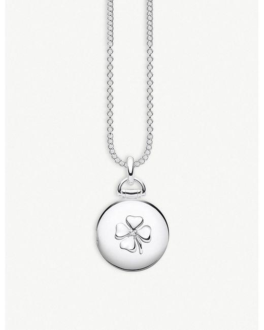 Thomas Sabo - Metallic Cloverleaf Sterling Silver And Diamond Locket - Lyst