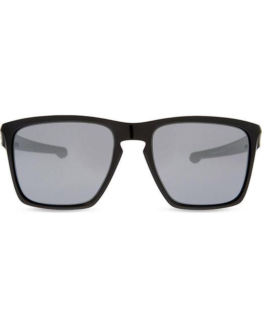 Frame Glasses Xl : Oakley Oo9341 Sliver Xl Square-frame Sunglasses in Black ...