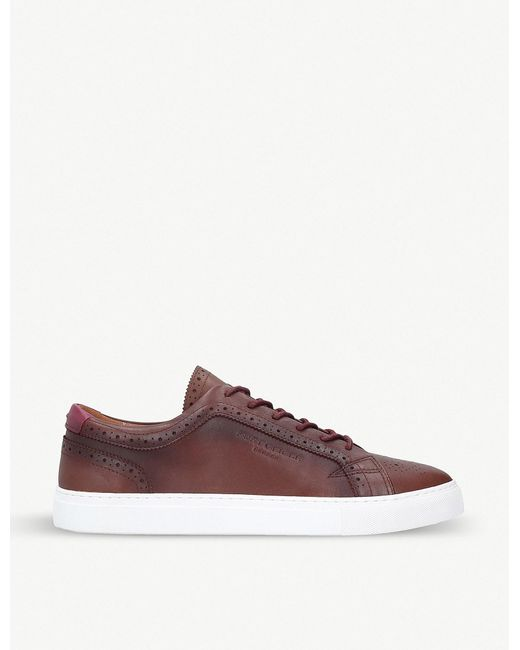 Kurt Geiger - Brown Theo Leather Trainers for Men - Lyst