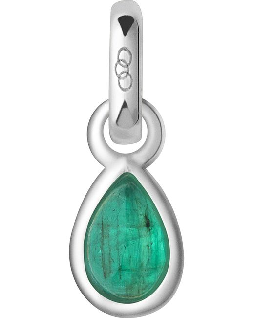 Links of London   Green May Sterling Silver And Emerald Mini Birthstone Charm   Lyst