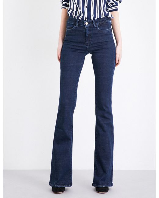 MiH Jeans - Blue Bodycon Marrakesh Flared High-rise Jeans - Lyst