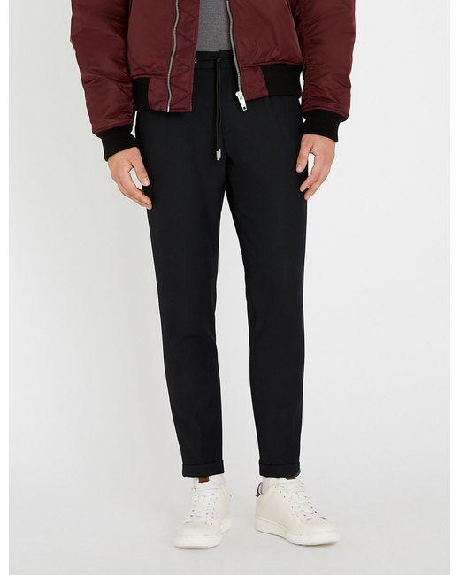 The Kooples - Black Slim-fit Skinny Twill Trousers for Men - Lyst