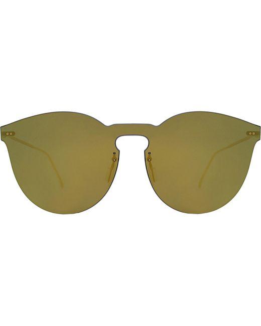 Illesteva - Yellow Leonard Ii Mask Round Sunglasses - Lyst