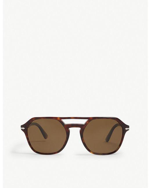 07ee132f8e Persol - Mens Havana Brown Po3206 Irregular-frame Sunglasses for Men - Lyst
