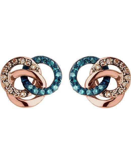 Links of London | Metallic Treasured 18ct Rose-gold Vermeil And Diamond Stud Earrings | Lyst