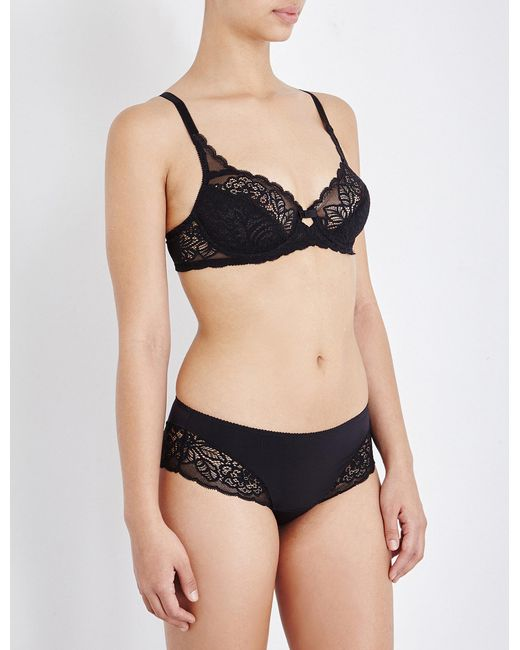 Triumph - Black Amourette Spotlight Lace And Mesh Underwired Bra - Lyst