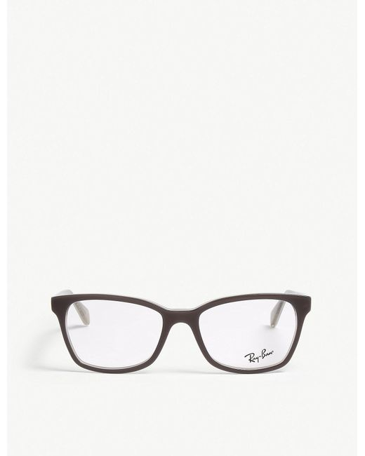 Ray-Ban - Gray Square-frame Optical Glasses - Lyst