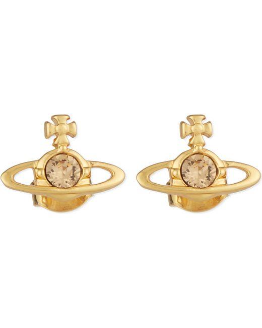 Vivienne Westwood | Metallic Nano Solitaire Orb Stud Earrings | Lyst