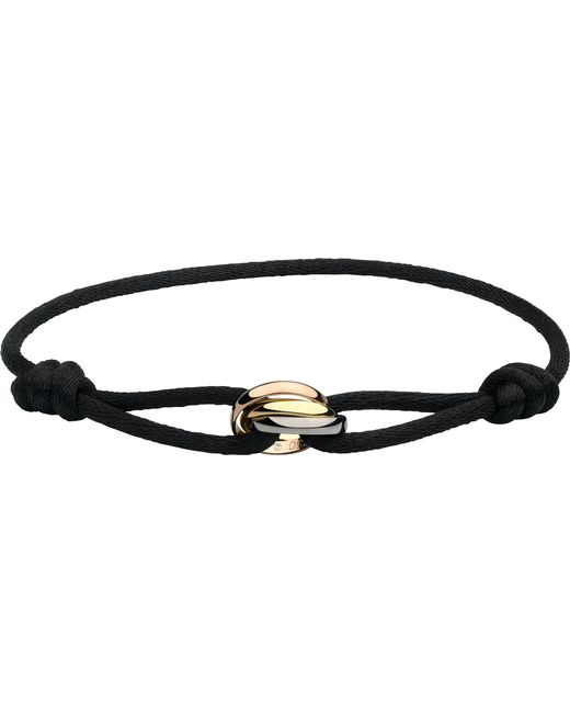 Cartier - Black Trinity 18ct Pink, Yellow And White-gold Bracelet - Lyst