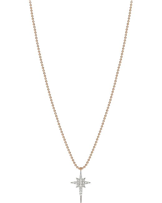 The Alkemistry | Metallic North Star 14ct Rose-gold And Diamond Necklace | Lyst
