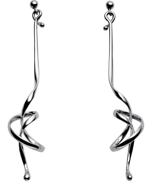 Georg Jensen | Metallic Forget Me Knot Sterling Silver Earrings | Lyst