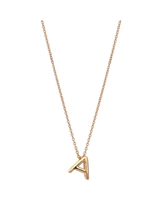 The Alkemistry | Metallic Kismet By Milka 14ct Rose-gold Initial A Necklace | Lyst