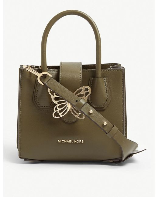 48d53d7e290e1 Lyst - MICHAEL Michael Kors Mercer Butterfly Leather Tote in Green