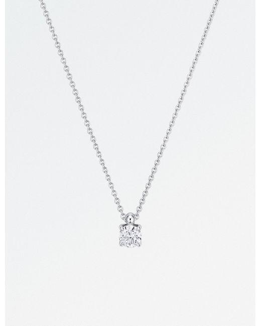 BUCHERER JEWELLERY - Metallic Joy Anchor 18ct White-gold And Diamond Necklace - Lyst