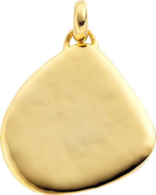 Monica Vinader - Black Siren 18ct Gold-plated Vermeil Large Pendant - Lyst