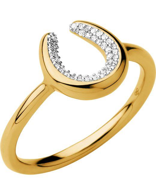 Links of London | Metallic Ascot Diamond Essentials 18ct Gold Vermeil Horseshoe Ring | Lyst