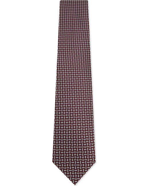 Ermenegildo Zegna   Red Diamond And Squares Silk Tie for Men   Lyst