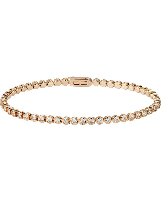 Cartier - Lignes 18ct Yellow-gold And Diamond Bracelet - Lyst