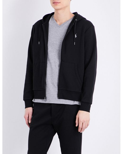 5307a84a2 Polo Ralph Lauren Logo Zip-up Hoody in Black for Men - Lyst