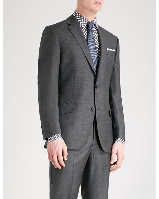 Richard James - Gray Basketweave Slim-fit Wool Jacket for Men - Lyst