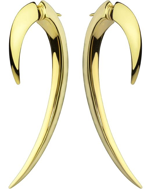 Shaun Leane | Metallic Tusk Yellow Gold Vermeil And Diamond Earrings | Lyst